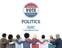 Politik röstar regerings- partibegrepp för val arkivfoto