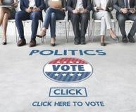 Politik röstar regerings- partibegrepp för val royaltyfri foto