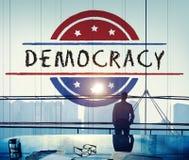 Politik-Regierungs-Referendum-Demokratie-Abstimmungs-Konzept lizenzfreie stockfotografie