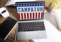 Politik-Regierungs-Referendum-Demokratie-Abstimmungs-Konzept stockfoto