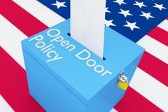 Politikbegrepp för öppen dörr Arkivfoto