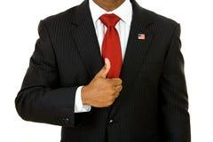 Politiker: Mann gibt große Daumen auf lizenzfreies stockfoto