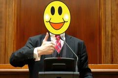 Politiker mit einem lächelnden Gesicht lizenzfreies stockbild
