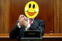 Politiker mit einem lächelnden Gesicht stockbild