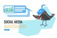 Politiker och aff?rsman p? socialt massmedia royaltyfri illustrationer