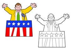 Politiker som gör ett anförande royaltyfria bilder