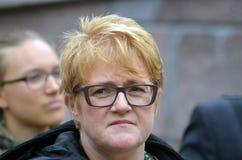 Politiker Trine Skei Grande för frisinnat parti Arkivfoto