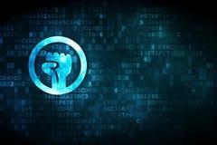 Politikkonzept: Aufstieg auf digitalem Hintergrund stock abbildung
