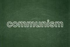 Politikkonzept: Kommunismus auf Tafelhintergrund stockfotografie