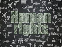 Politikkonzept: Menschenrechte auf Schulbehördehintergrund Lizenzfreies Stockbild