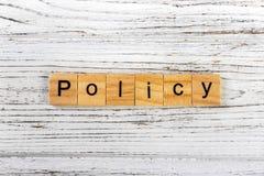 Politikord som göras med träkvarterbegrepp royaltyfria foton