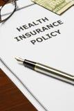 Politique d'assurance médicale maladie Photos libres de droits