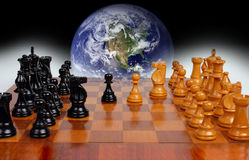 Politique mondiale comme jeu d'échecs Photographie stock