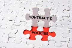 Politiques de contrat Image libre de droits