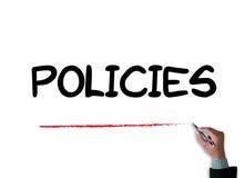 Politiques      L'information Principl de politique de confidentialité illustration stock