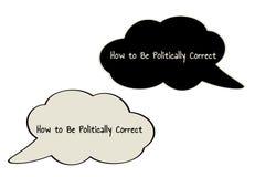 Politisch korrekt sprechen Sie Blase stock abbildung