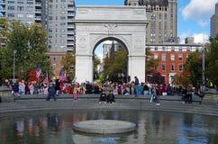Politische Aktivisten in Washington Square Park NYC lizenzfreie stockfotos