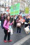 Politische Demonstration in Frankreich Lizenzfreie Stockfotografie