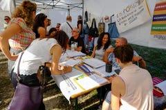 Politische Demonstration in Rom Lizenzfreies Stockbild