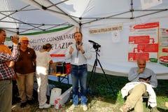 Politische Demonstration in Rom Stockfoto