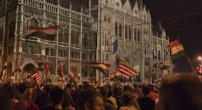Politische Demonstrationen in Ungarn 2006 stockbilder