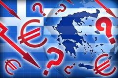 Politische Fragen der Griechenland-Krise vektor abbildung