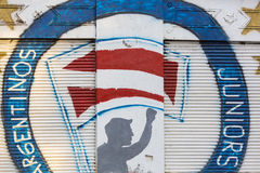 Politische Graffiti in Buenos Aires, Argentinien Stockfoto