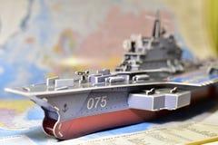 Politische Karte der militärischer Ausrüstung stockfotos
