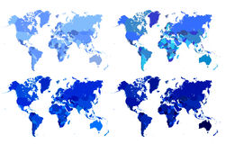 Politische Karte der Welt stockbilder
