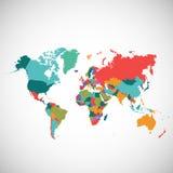 Politische Karte der Welt Lizenzfreie Stockfotos