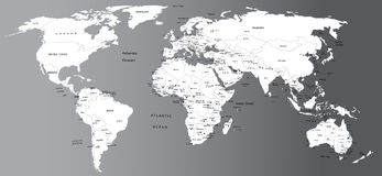 Politische Karte der Welt Lizenzfreies Stockfoto