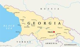 Politische Karte Georgia Stockbild
