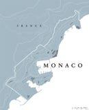 Politische Karte Monacos Stockbilder