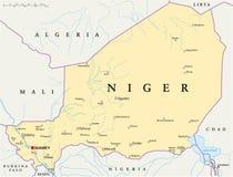 Politische Karte Nigers Lizenzfreie Stockbilder