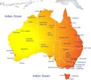 Politische Karte von Australien Lizenzfreies Stockbild