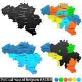 Politische Karte von Belgien vektor abbildung