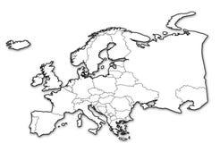 Politische Karte von Europa Stockfotos