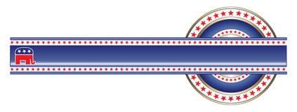 Politische Kennsatz-Republikaner-Fahne lizenzfreie abbildung