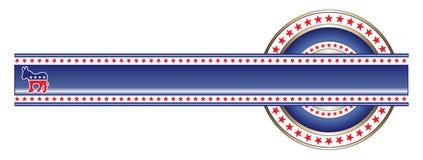 Politische Kennsatzdemocrat-Fahne lizenzfreie abbildung