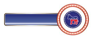 Politische Kennsatzdemocrat-Sterne stock abbildung