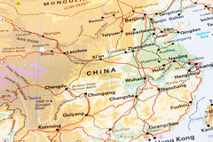 Politische kontinentale Karte Stockfotos