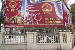 Politische Propaganda, Vietnam stockfotos