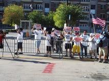 Politische Protestierender Stockfoto