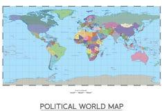 Politische Weltkarte Lizenzfreie Stockfotos