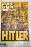 Politischer Anschlagtafelposter der deutschen Nazipartei, herein herausgestellt Lizenzfreie Stockbilder