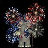 Politischer Elefant - Feuerwerke Lizenzfreie Stockfotos