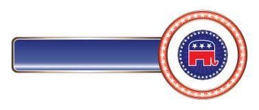Politischer Kennsatz-Republikaner-Stern vektor abbildung