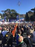 Politisches Ereignis Rom Lega Nords lizenzfreie stockfotos