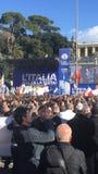 Politisches Ereignis Rom Lega Nords stockfotos