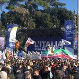 Politisches Ereignis Rom Lega Nords lizenzfreie stockbilder